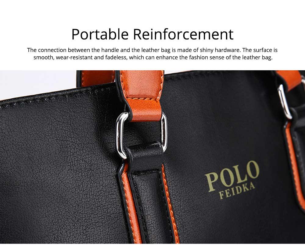 Single Shoulder Bag with Comfortable Hand Belt, PU Leather Large Capacity Inclined Shoulder Bag 5