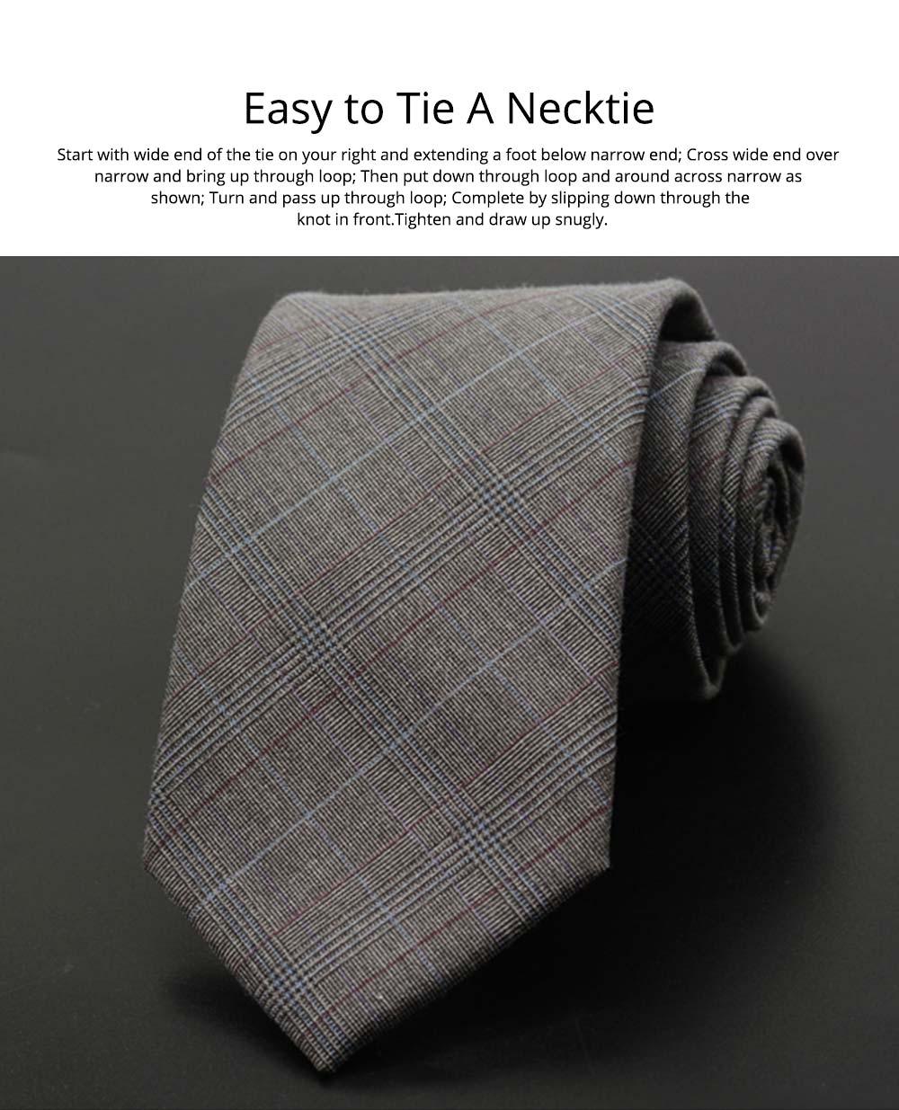 Men's Grid Necktie, Marvel Plaid Men' Business Self Tie Bow Ties 7