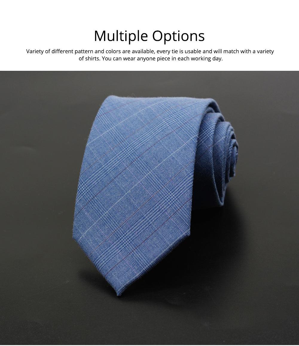 Men's Grid Necktie, Marvel Plaid Men' Business Self Tie Bow Ties 3
