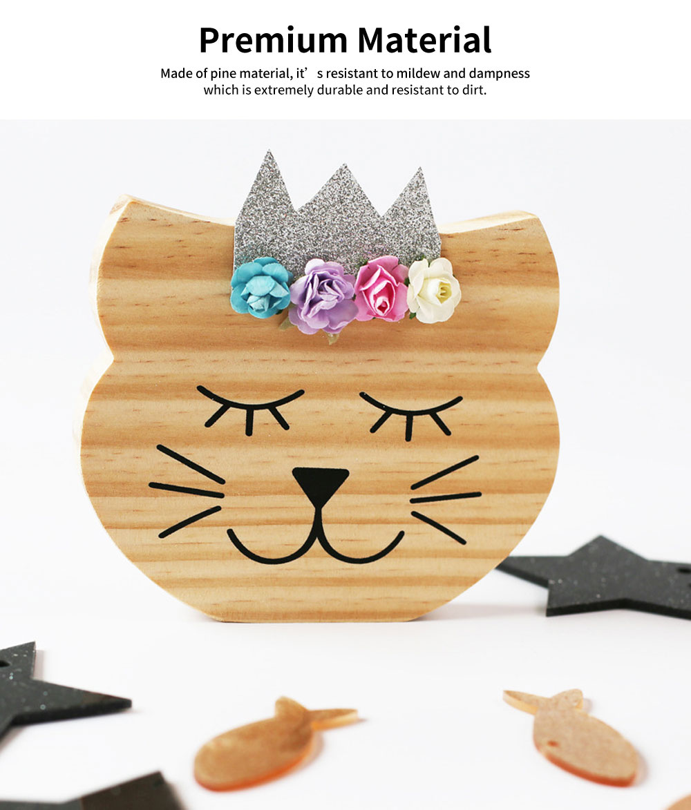 Rabbit Bear Fox Wood Craft Furniture Ornament Baby Kids Room Accessories Nordic Decoration Photography Prop 1