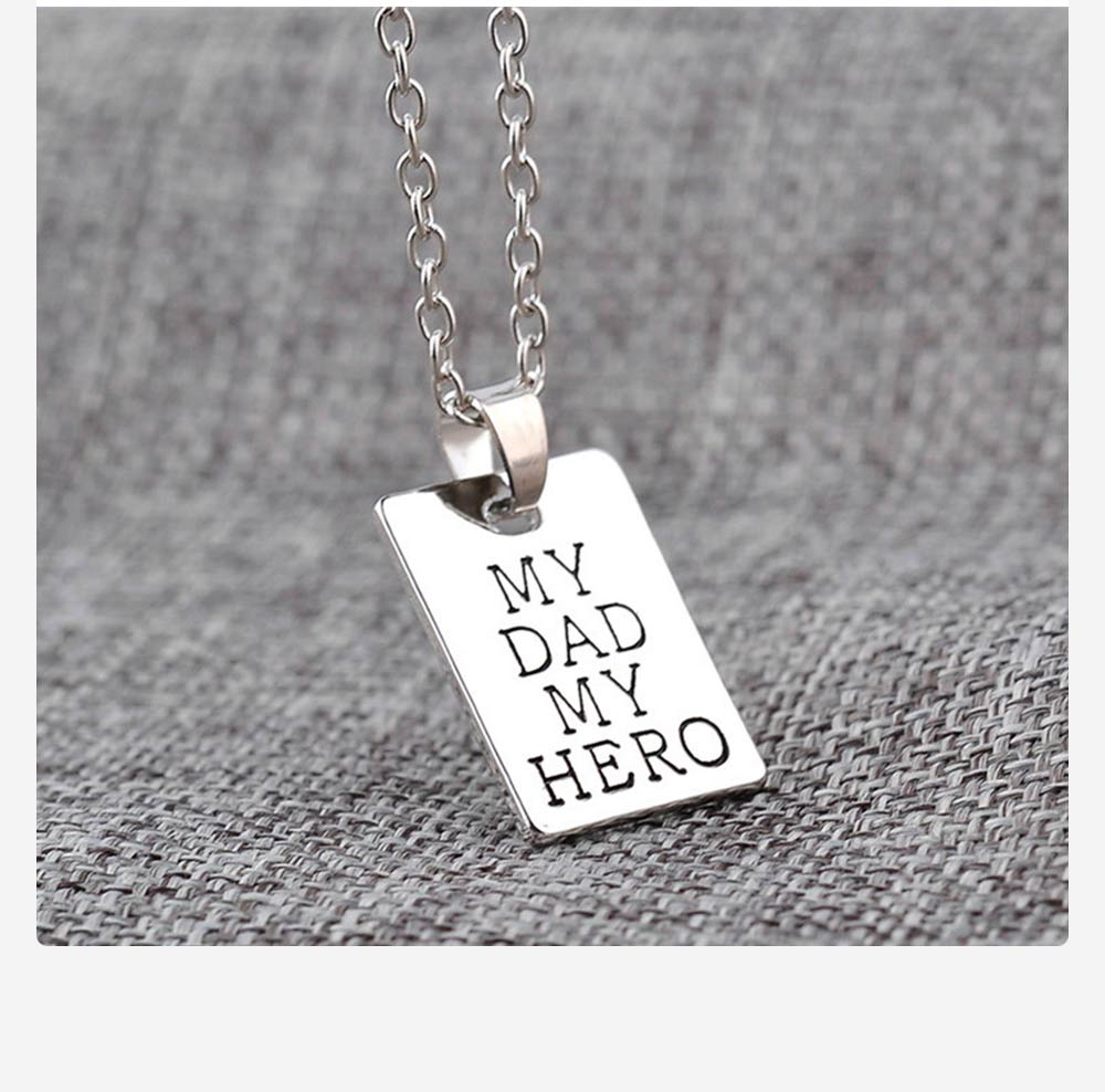 Zinc Alloy Necklace Pendant with I Love You Dad Lettering Letters & Perfect Lines, Father's Day Gift 6