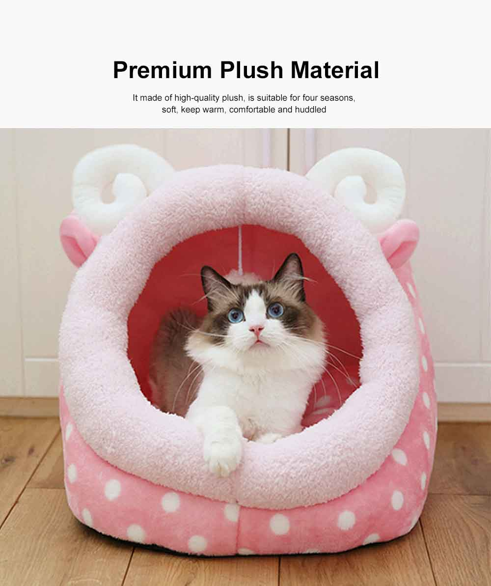 Animal Shape Luxury Pet Bed Dog Cat Nest, Supply Puppy Soft Sleep, Cat Nest Bed Keep Warm 4