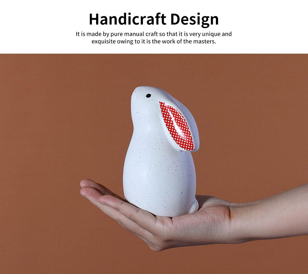 Ceramic Rabbit Furnishings Ornament for Children's Rooms, Children's Clothing Stores Decoration 4
