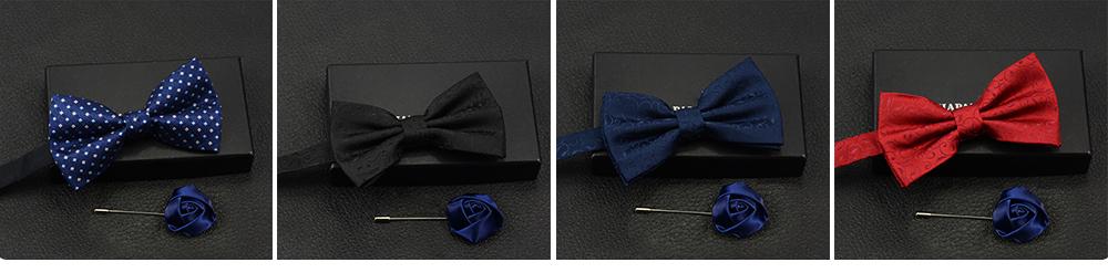 Men's Self Tie Bow Ties, Unique Grid Pattern Bow Ties, Various Styles for Groomsman Gets Married 9