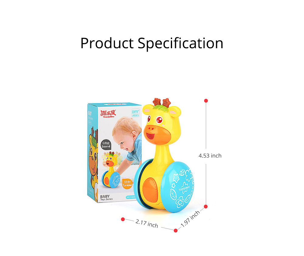 Cute Deer Tumbler Learn Crawling Education Toy, Breaking-proof Swinging Interaction Early Education Toy 8