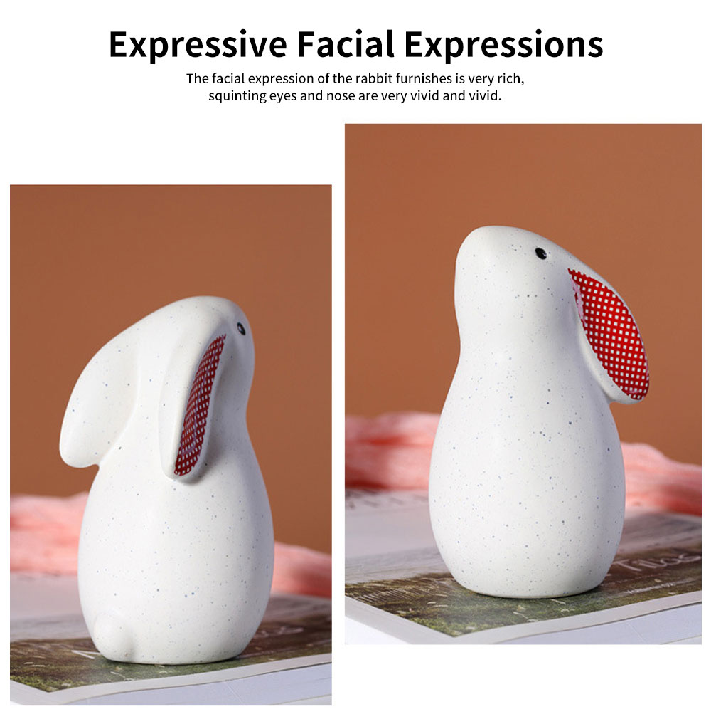 Ceramic Rabbit Furnishings Ornament for Children's Rooms, Children's Clothing Stores Decoration 3