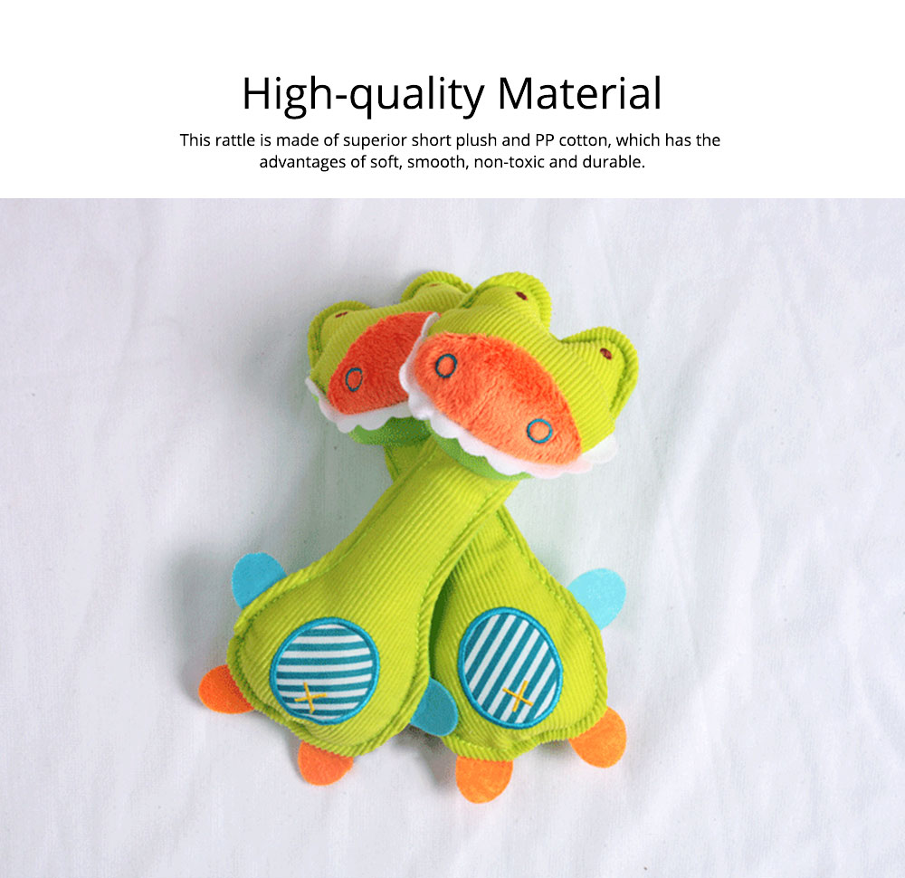 Ultrasoft Short Plush Babies Rattle with BB Device, Cute Animal Model Hand Bell Early Education for Infants Children 1