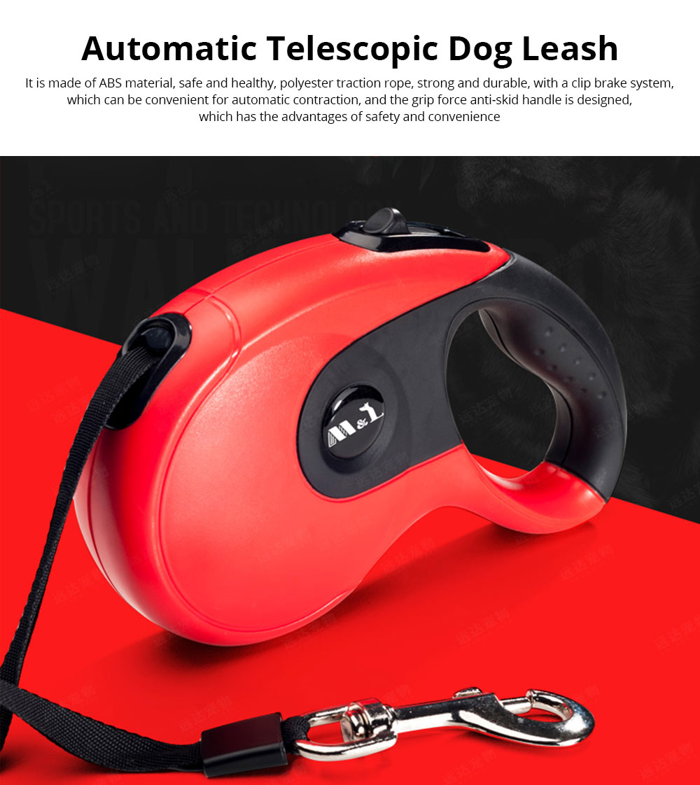 Automatic Telescopic Dog Leash for Large and Small Dogs, Non-slip Leash for Teddy 0