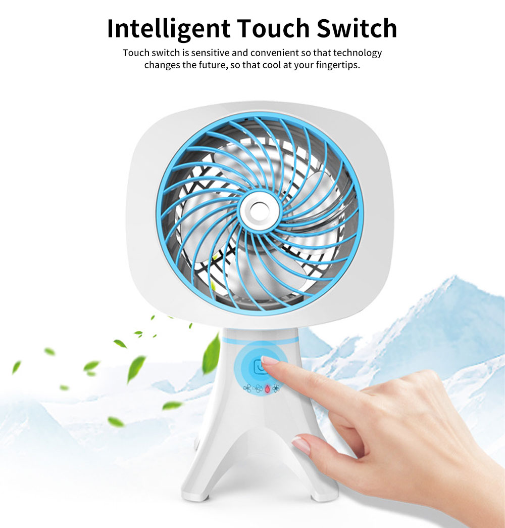 Intelligent Automatic humidification Charging Fan with Four Levels and Intelligent Touch Switch Design 3