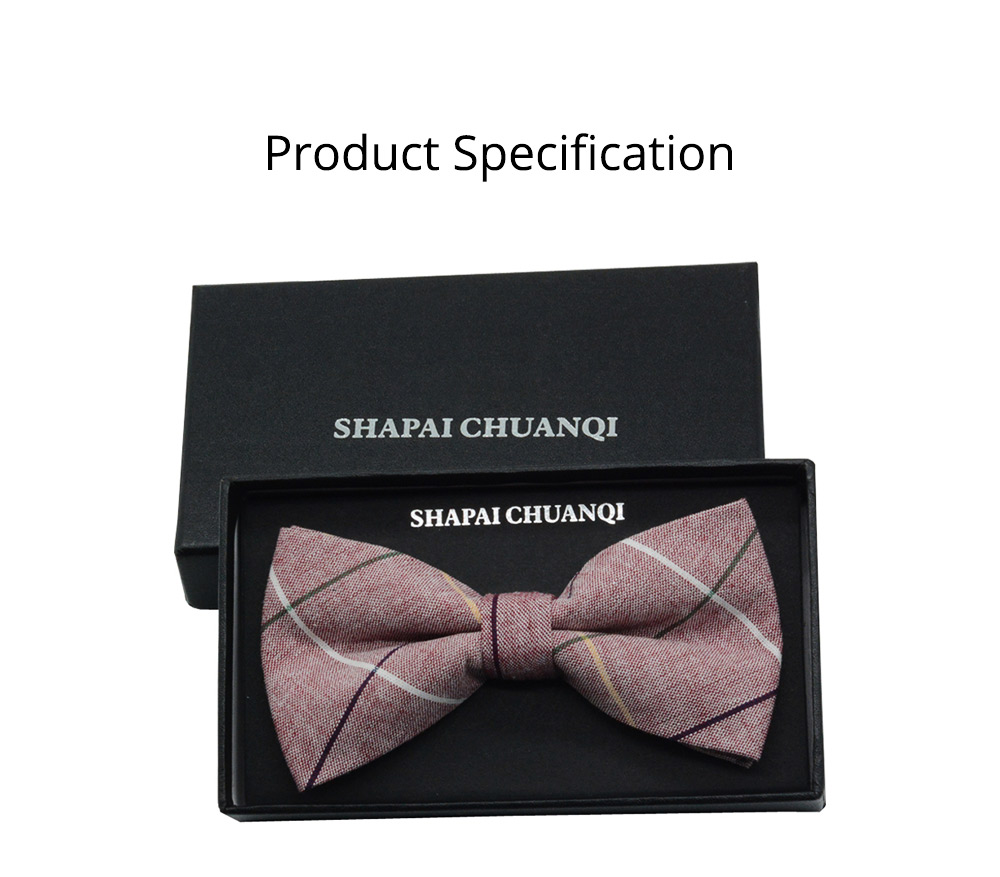 Men' Cotton Grid Self Tie Bow Ties, Unique Bow Ties with Various Styles for Groomsman Gets Married 8