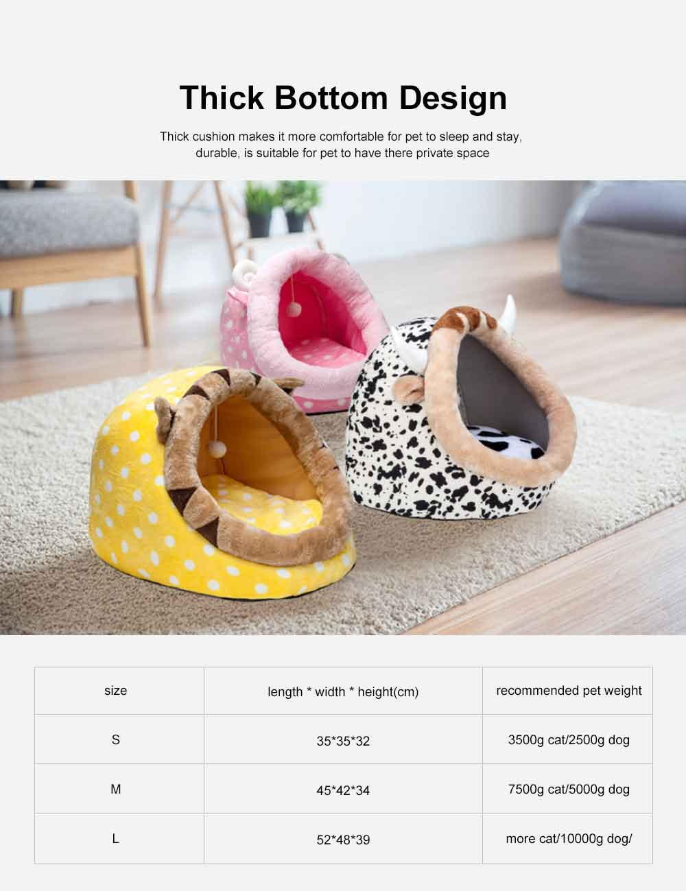 Animal Shape Luxury Pet Bed Dog Cat Nest, Supply Puppy Soft Sleep, Cat Nest Bed Keep Warm 5