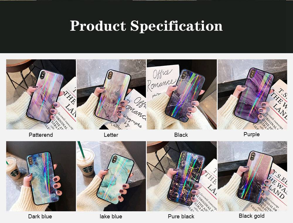 iPhone Protection Case Tempered Glass Back for iPhone XS/8 Plus/MAX/XR/7 Plus 5