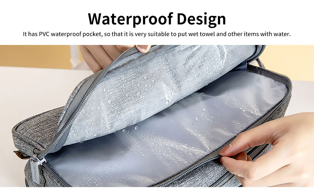 Large-capacity Waterproof Toiletry Bag Cosmetic Storage Bag with Separating Dry & Wet Function for Business Trips 3