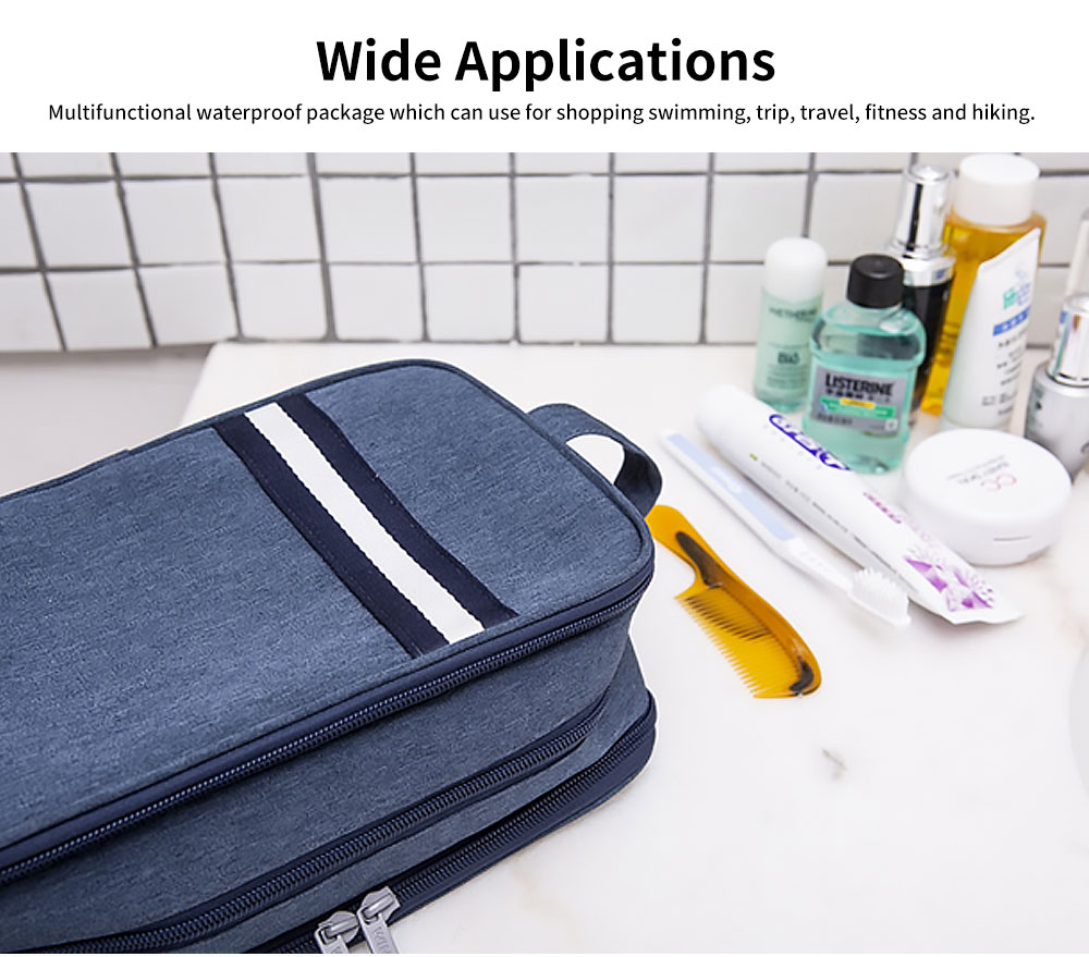 Large-capacity Waterproof Toiletry Bag Cosmetic Storage Bag with Separating Dry & Wet Function for Business Trips 4