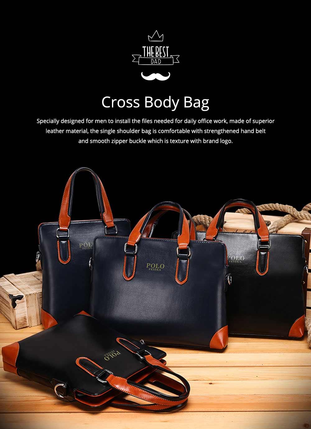 Single Shoulder Bag with Comfortable Hand Belt, PU Leather Large Capacity Inclined Shoulder Bag 0