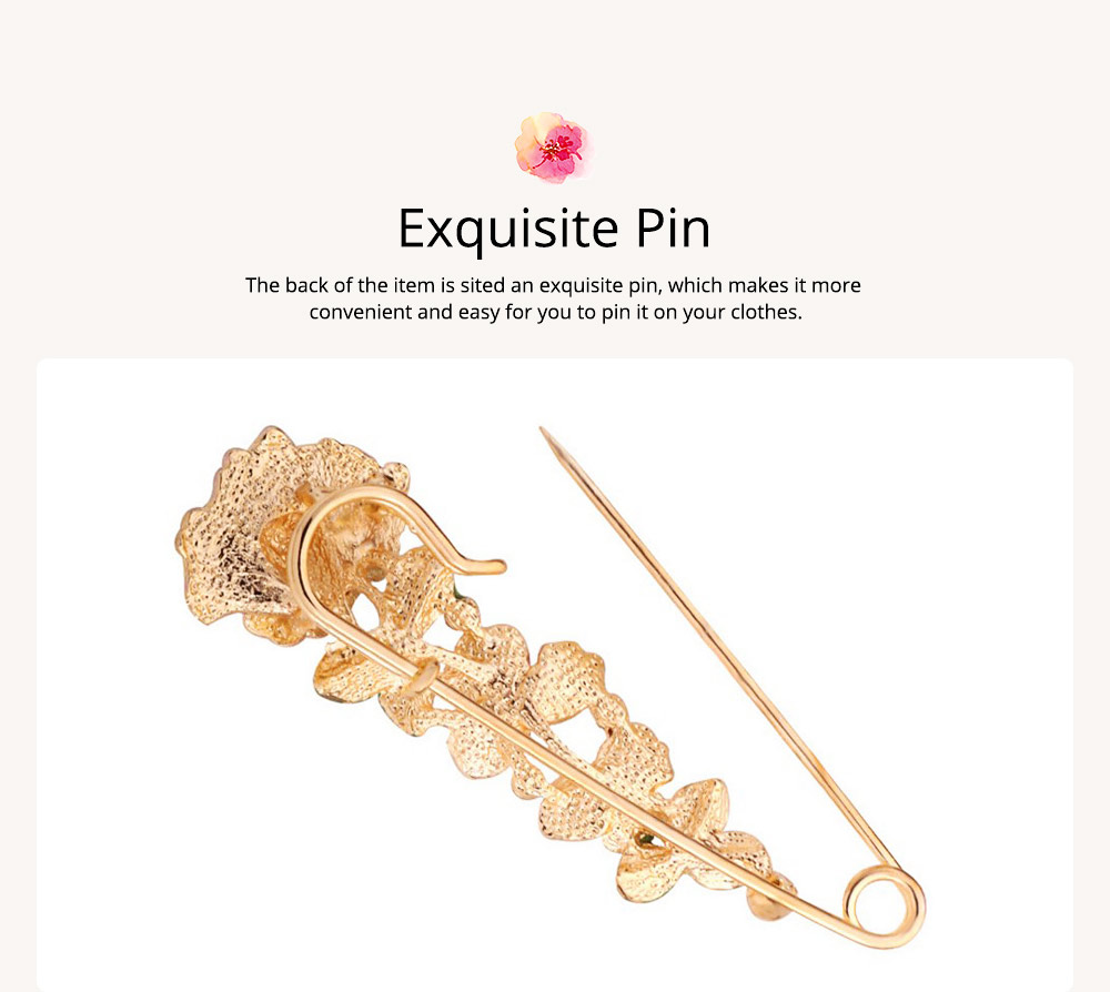 Flower Brooch for Women, High-end Fancy Oil Painting Brooches Pin Elegant Dresses Jewelry 4