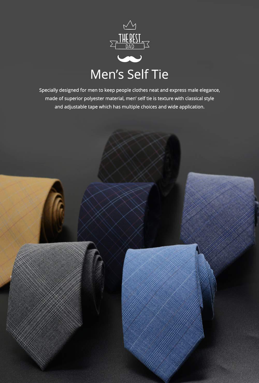 Men's Grid Necktie, Marvel Plaid Men' Business Self Tie Bow Ties 0