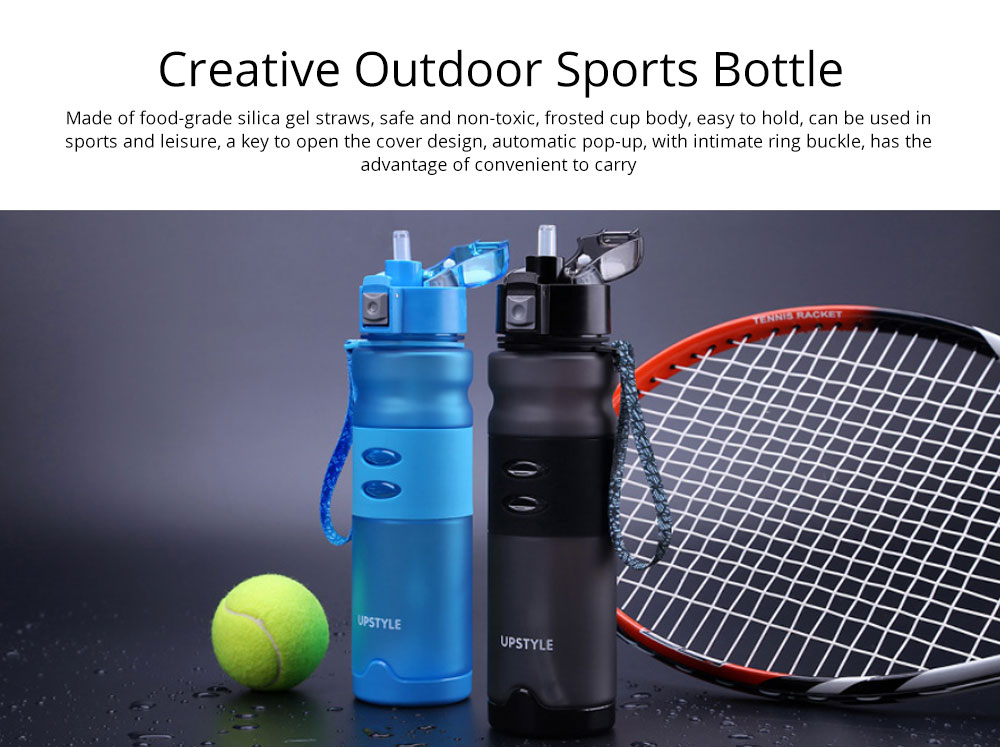Creative Outdoor Sports Bottle, Portable Fitness Plastic Cup, Female Simple Straw Cup 0