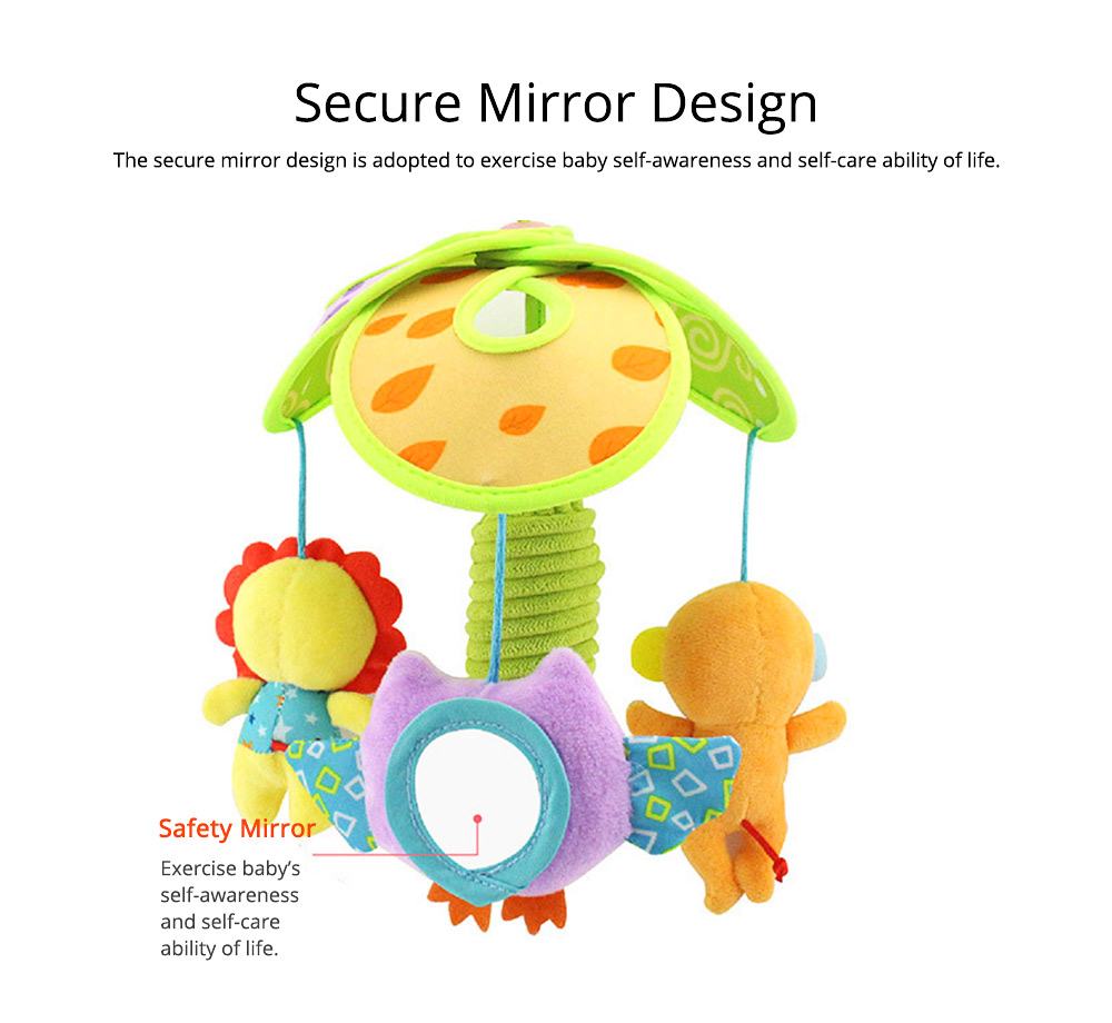 Cute Carton Forest Ocean Animal Series Baby Mobiles, Pacification Toy Wind Bell with Three Leaves Rotation Design for Infants 7