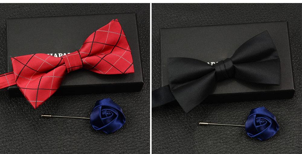 Men's Self Tie Bow Ties, Unique Grid Pattern Bow Ties, Various Styles for Groomsman Gets Married 7