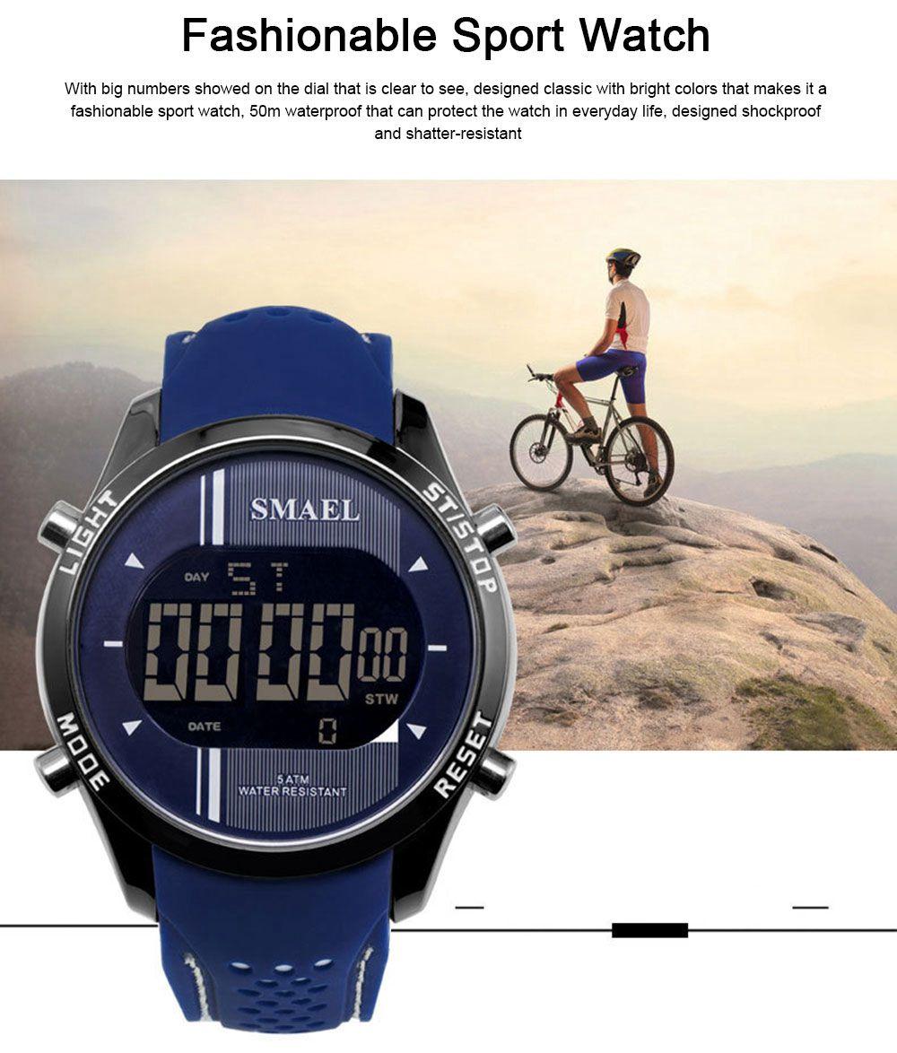 Digital Sport Watch for Men, Multifunctional Smartwatch 50M Waterproof Outdoors Watch 1