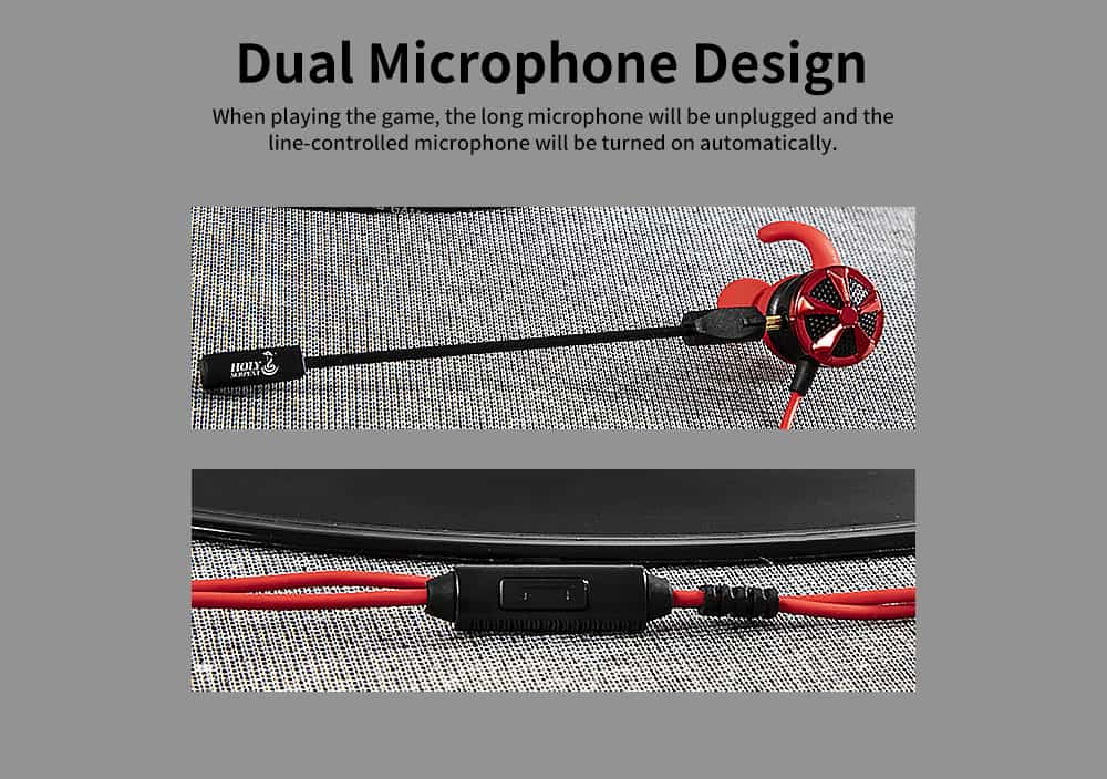 Gaming Mobile Phone Games Headphones with Graphene Diaphragm, Plugged Out Microphone & 7.1 Track, Professional E-sports Mobile Game headphones 1