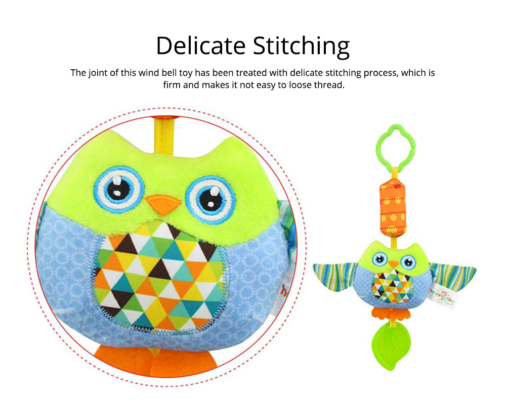 Cute Carton Baby Teether with Butterfly Chick Owl Bird Model, Soft Grinding Gum Campanula Series Pacification Toy 5