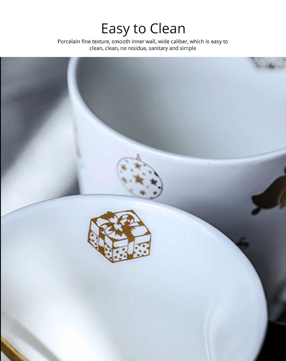 Christmas Couple Mug, Female Creative Nordic Mug, Large Capacity Ceramic Cup, Coffee Cup 5