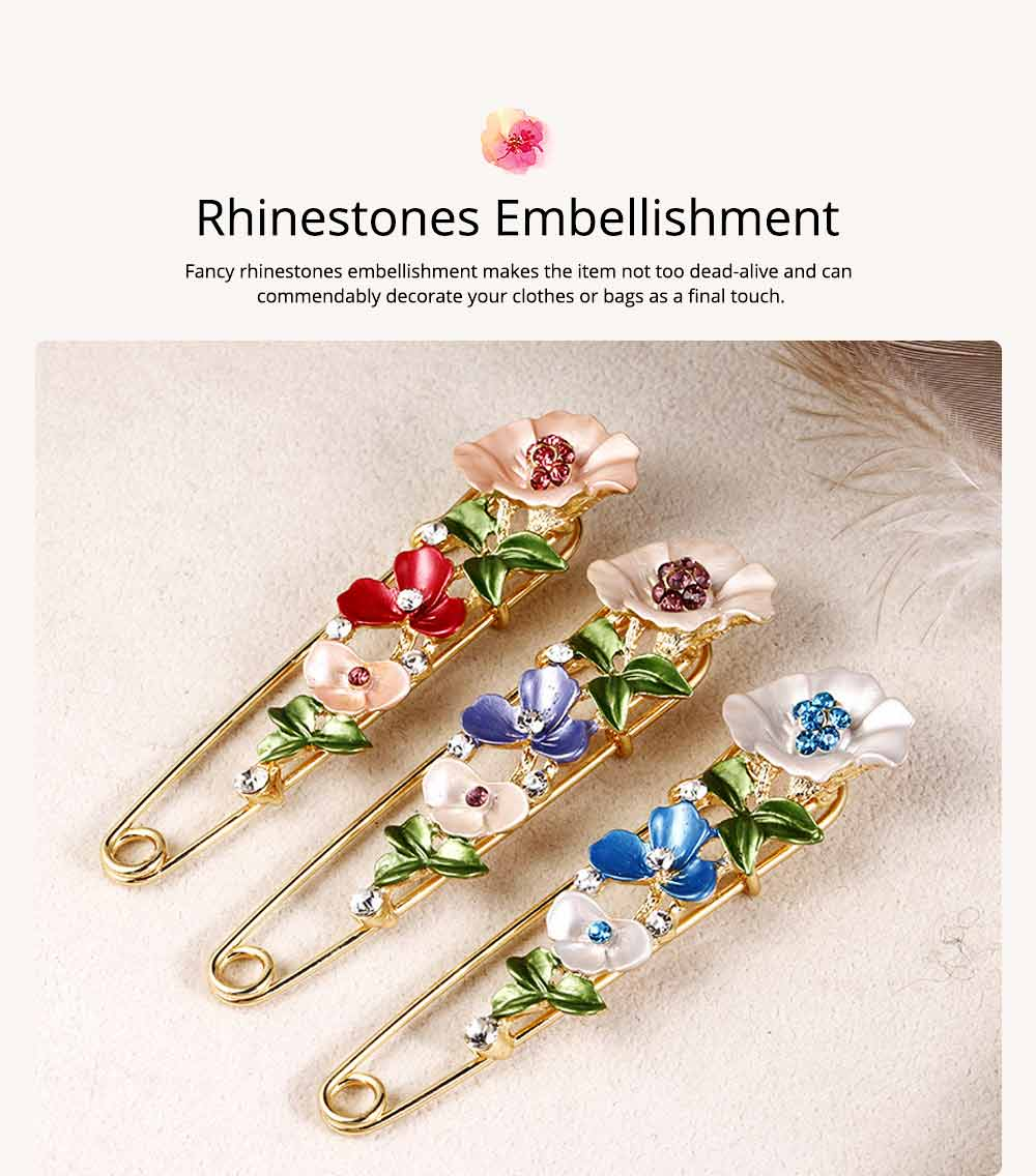 Flower Brooch for Women, High-end Fancy Oil Painting Brooches Pin Elegant Dresses Jewelry 5