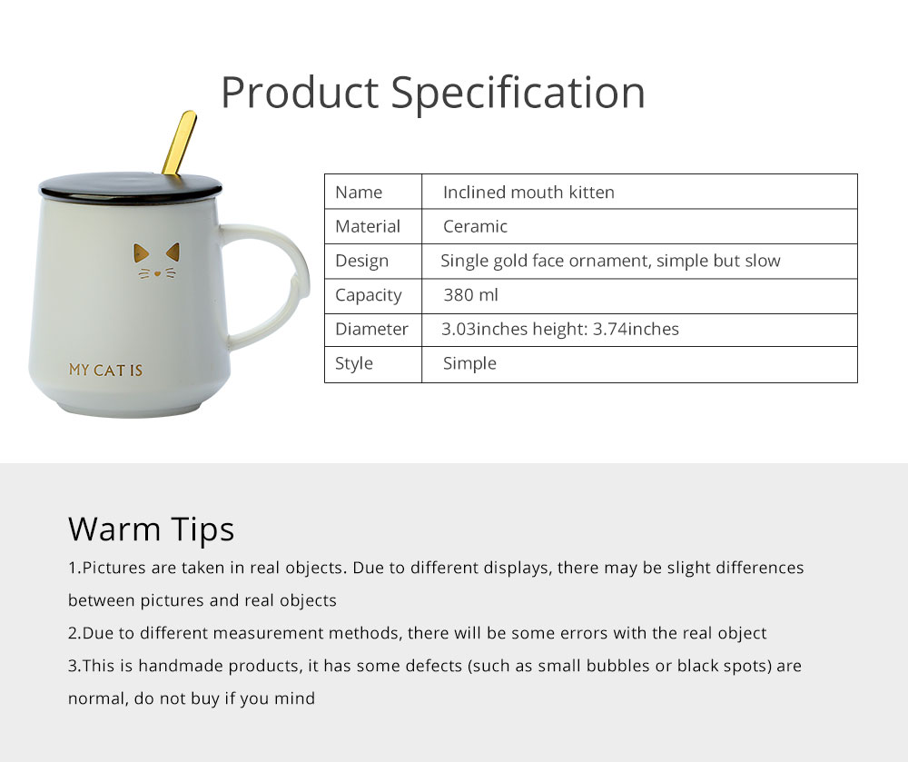 Trending Ceramic Mug for Female and Student, Cute Breakfast Coffee Cup with Lid Spoon 6