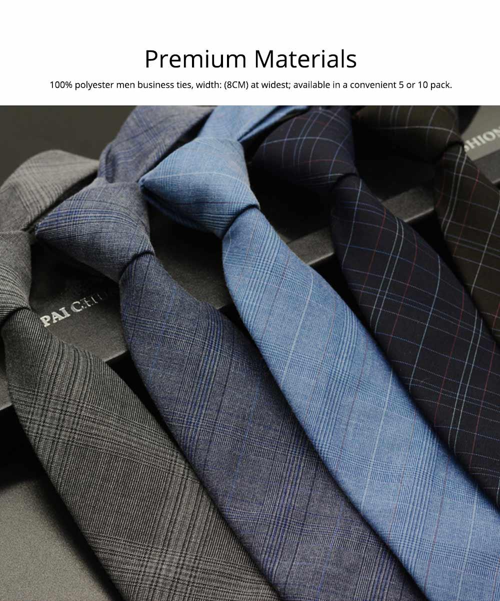Men's Grid Necktie, Marvel Plaid Men' Business Self Tie Bow Ties 1