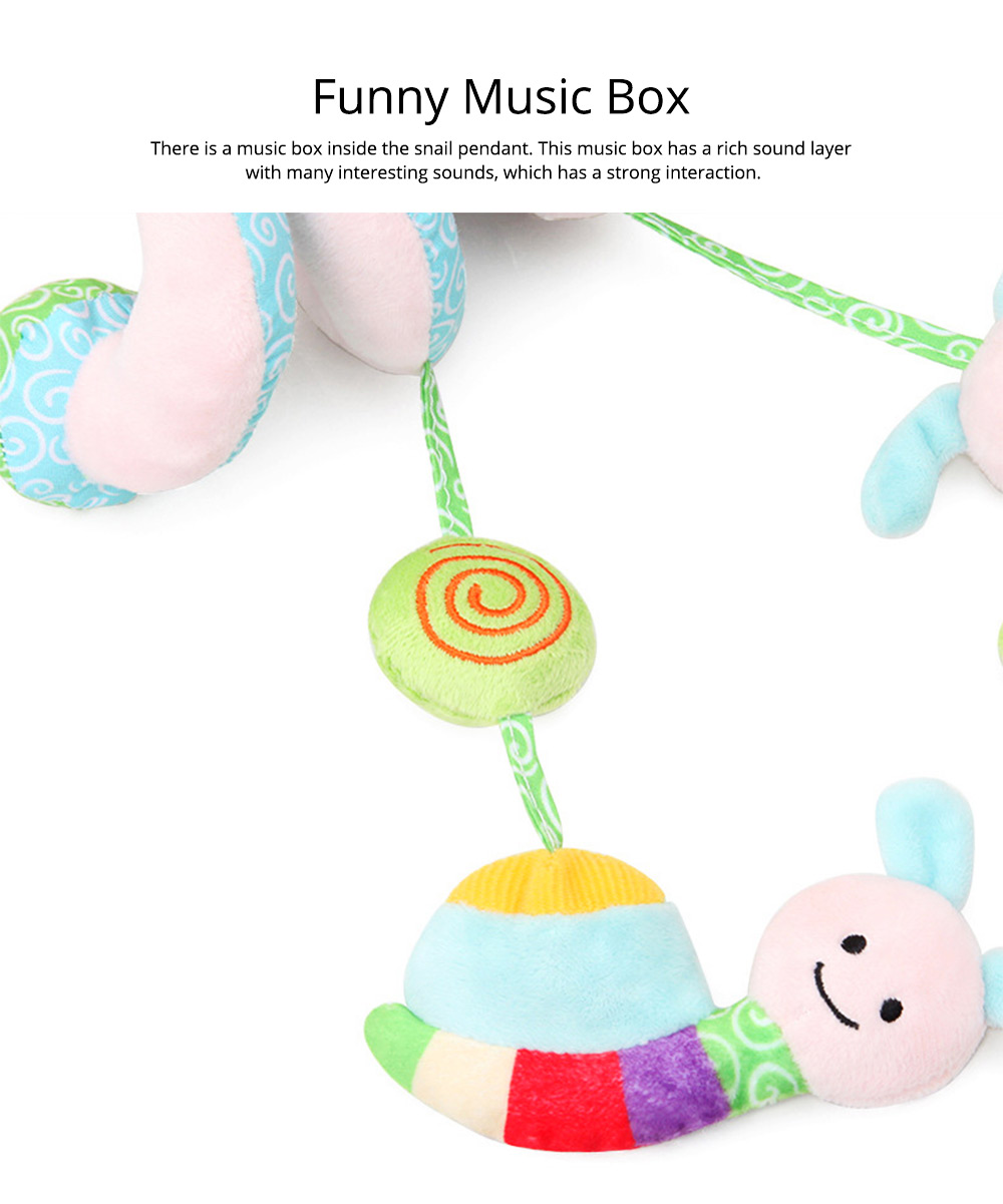 Baby Stroller Butterfly Hanging Plush Toys, Pram Bedside Winding Fluffy Pacification Toy Ornament 7