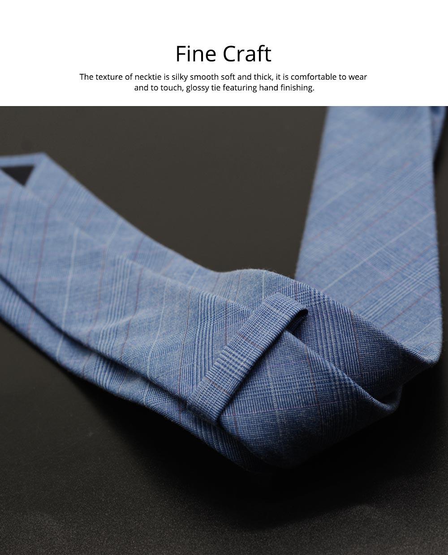 Men's Grid Necktie, Marvel Plaid Men' Business Self Tie Bow Ties 2