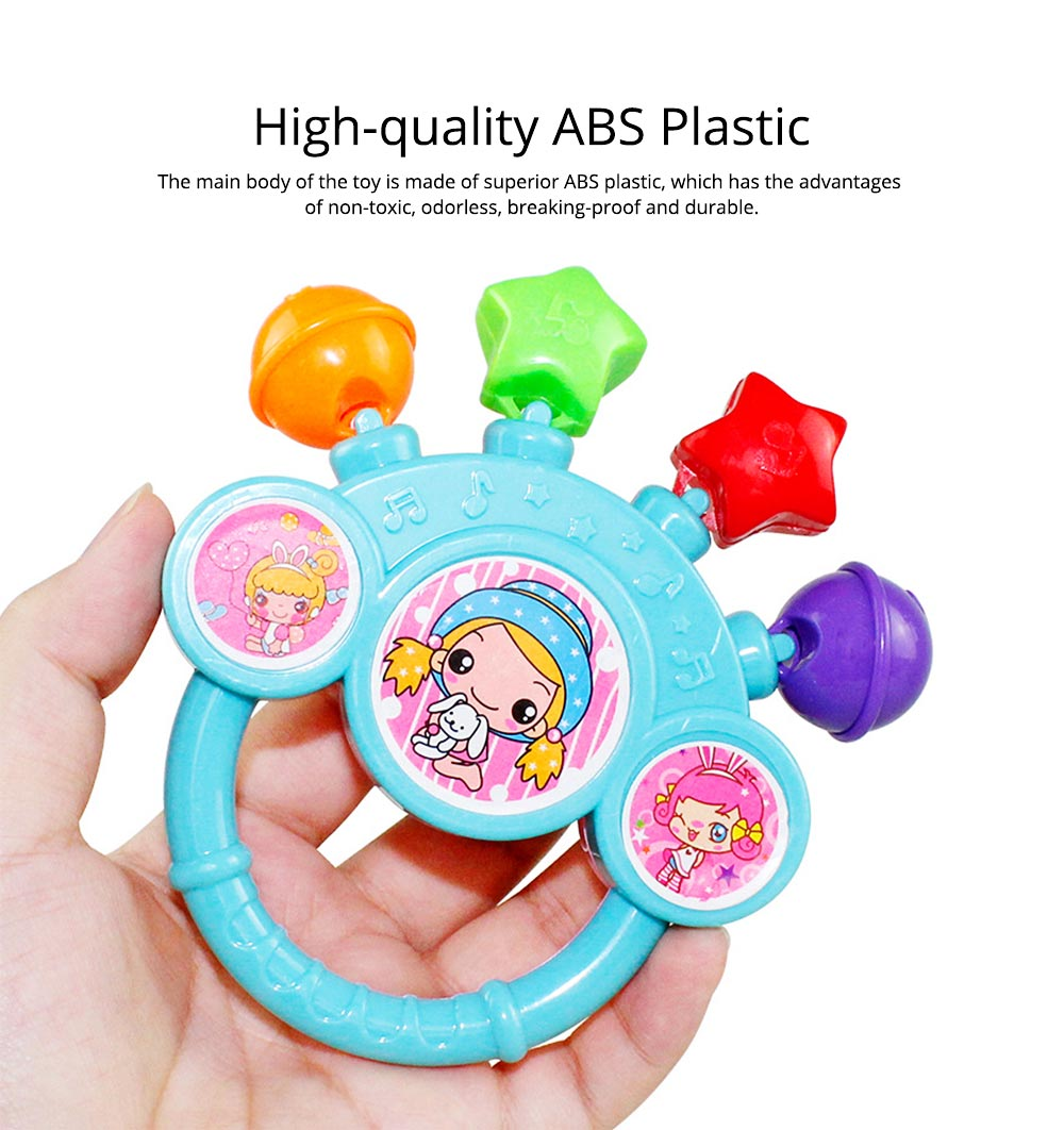 7PCS Cute Cartoon Rattle Suit for Babies, Solid ABS Plastic Delicate Fancy Hand Bell Early Education Puzzle Toy 1