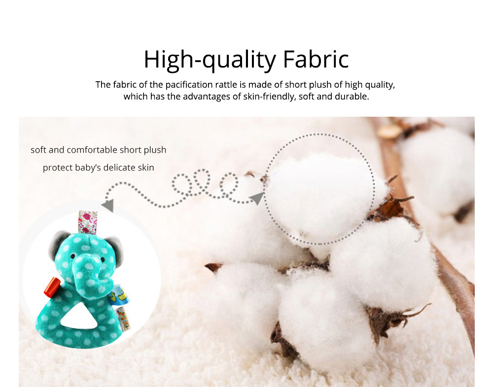 Cute Animal Fluffy Rattle with BB Device, Delicate Triangle Round Hand Grip Hand Bell for Infants 1