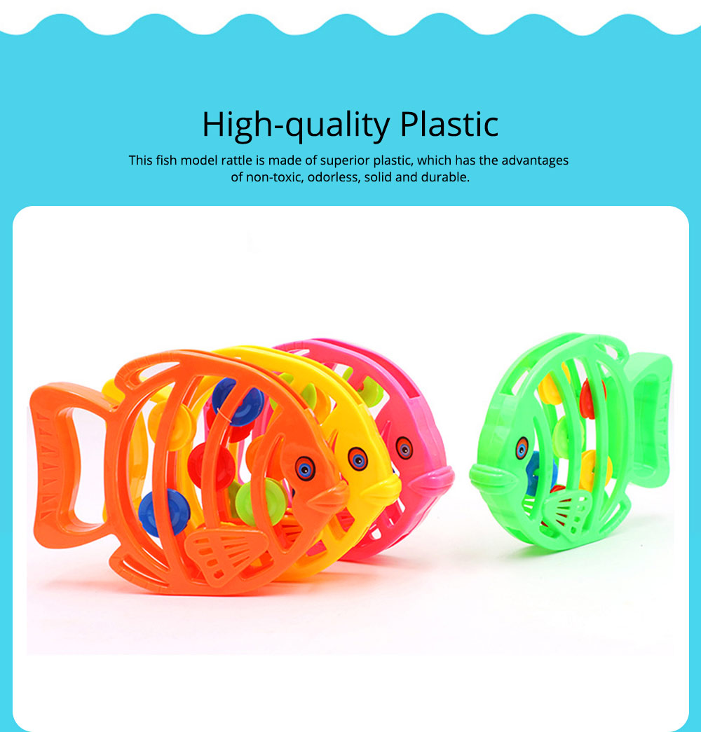 Delicate Fish Rattle for Infants, Colorful Plastic Breaking-proof Secure Babies Hand Bell Pacification Toy 1
