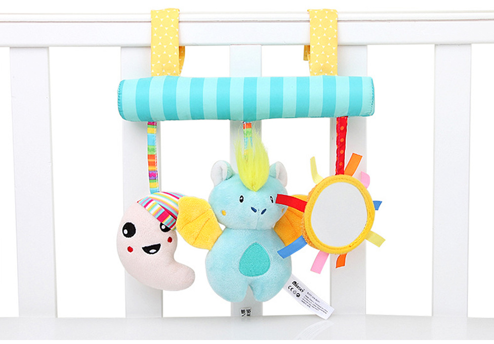 Multifunctional Pram Infants Bedside Hanging Toy with Music Function, Delicate Babies Pacification Sleeping Accompany Toy 5