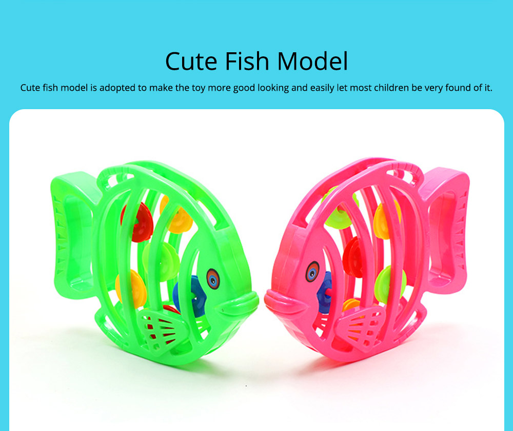 Delicate Fish Rattle for Infants, Colorful Plastic Breaking-proof Secure Babies Hand Bell Pacification Toy 4