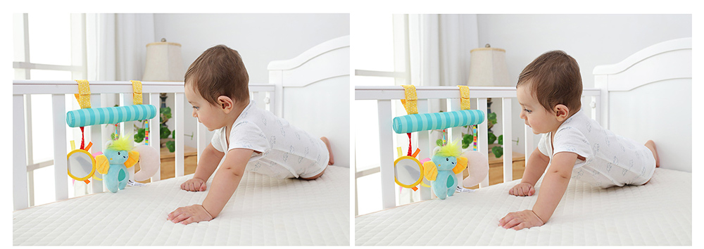 Multifunctional Pram Infants Bedside Hanging Toy with Music Function, Delicate Babies Pacification Sleeping Accompany Toy 9