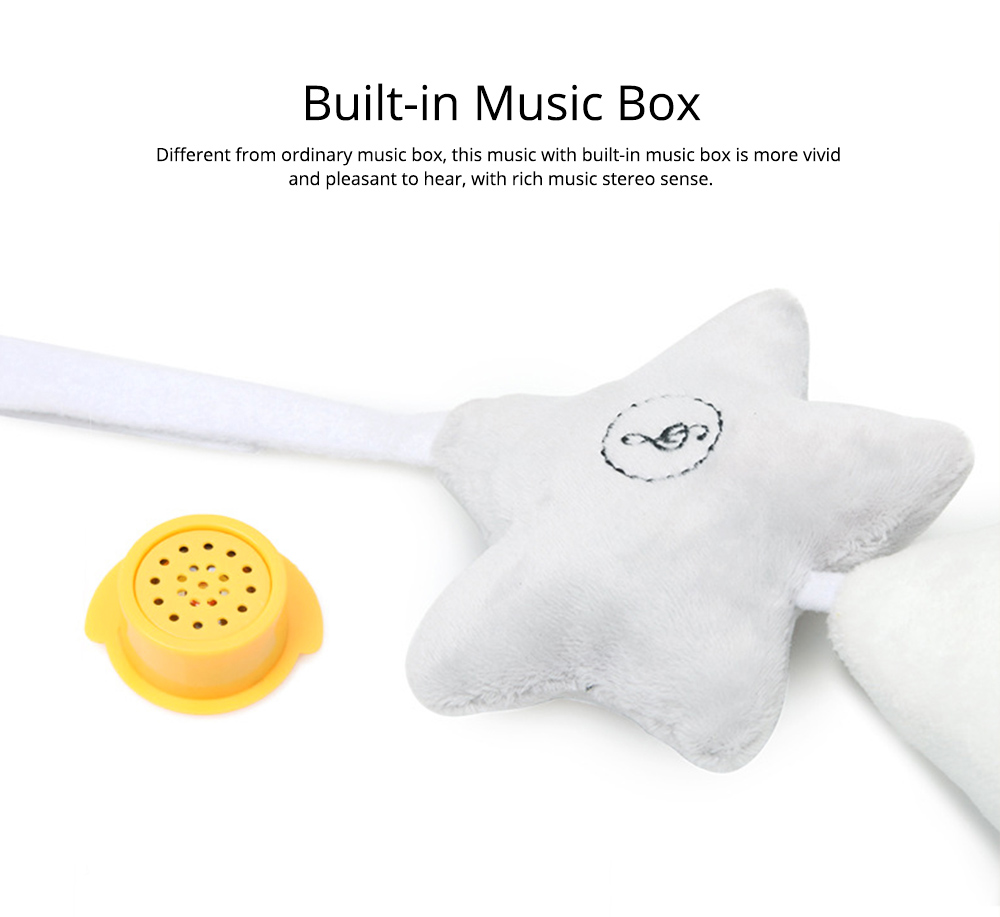 Cute Star Music Wind Bell Bed Bell Pram Pendant, Ultrasoft Plush Bedside Decoration Ornament Puzzle Early Education Toy 2