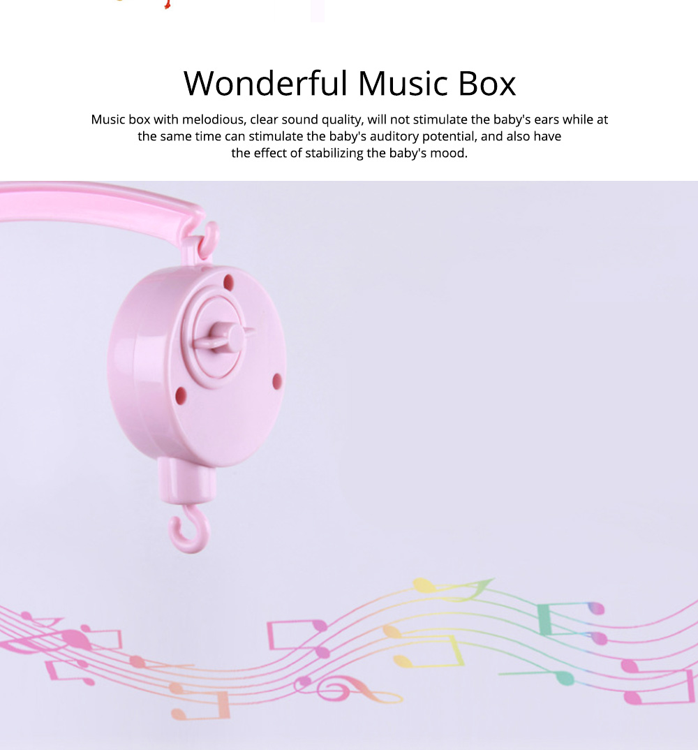 Creative Fluffy Music Rotation Bed Bell Baby Mobile, Cute Carton Ornaments Infants Bed Pram Decorative Toy 6