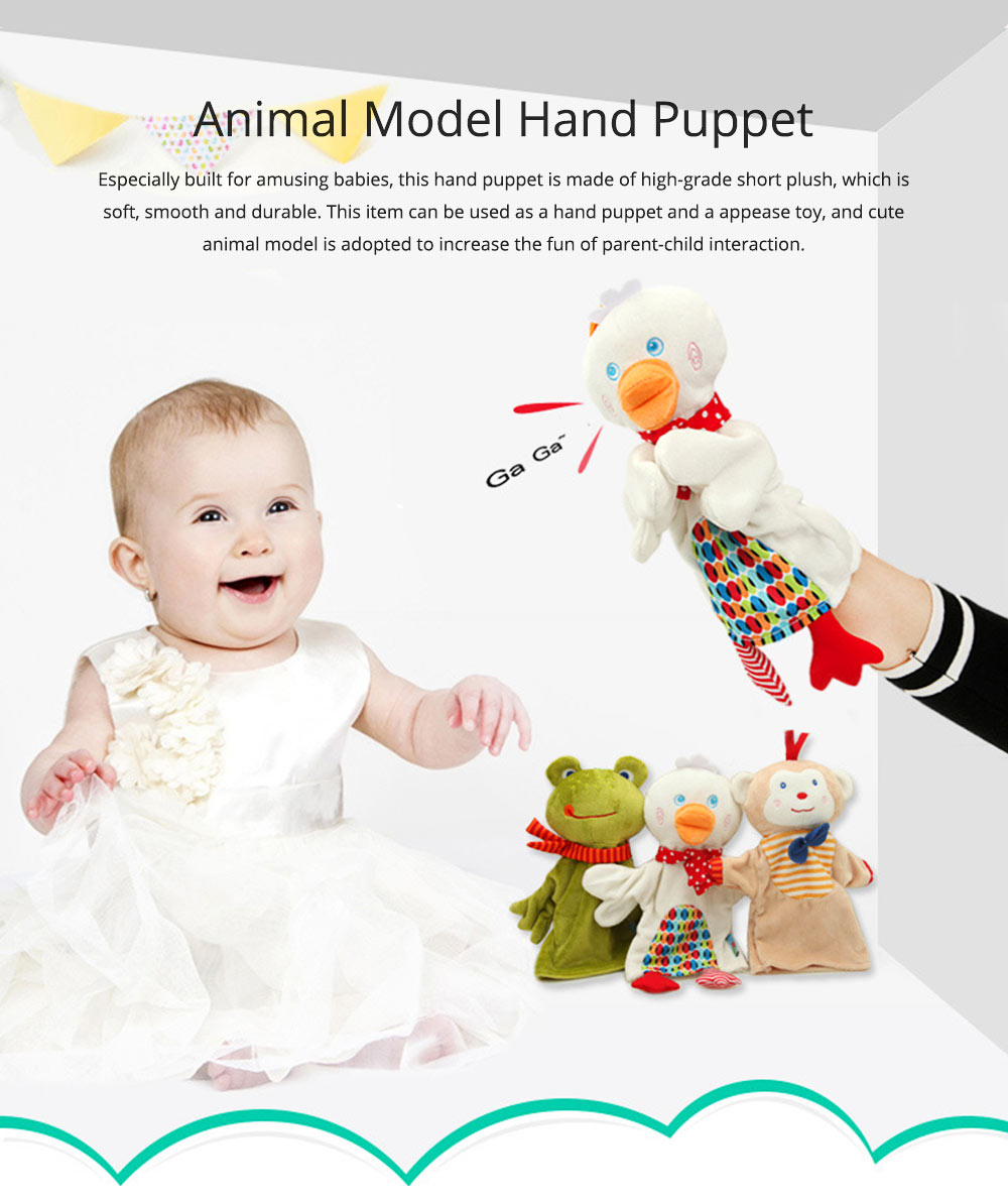 Cute Fluffy Animal Hand Puppet, Delicate Soft Plush Amusing Toy Doll for Children Infants 0