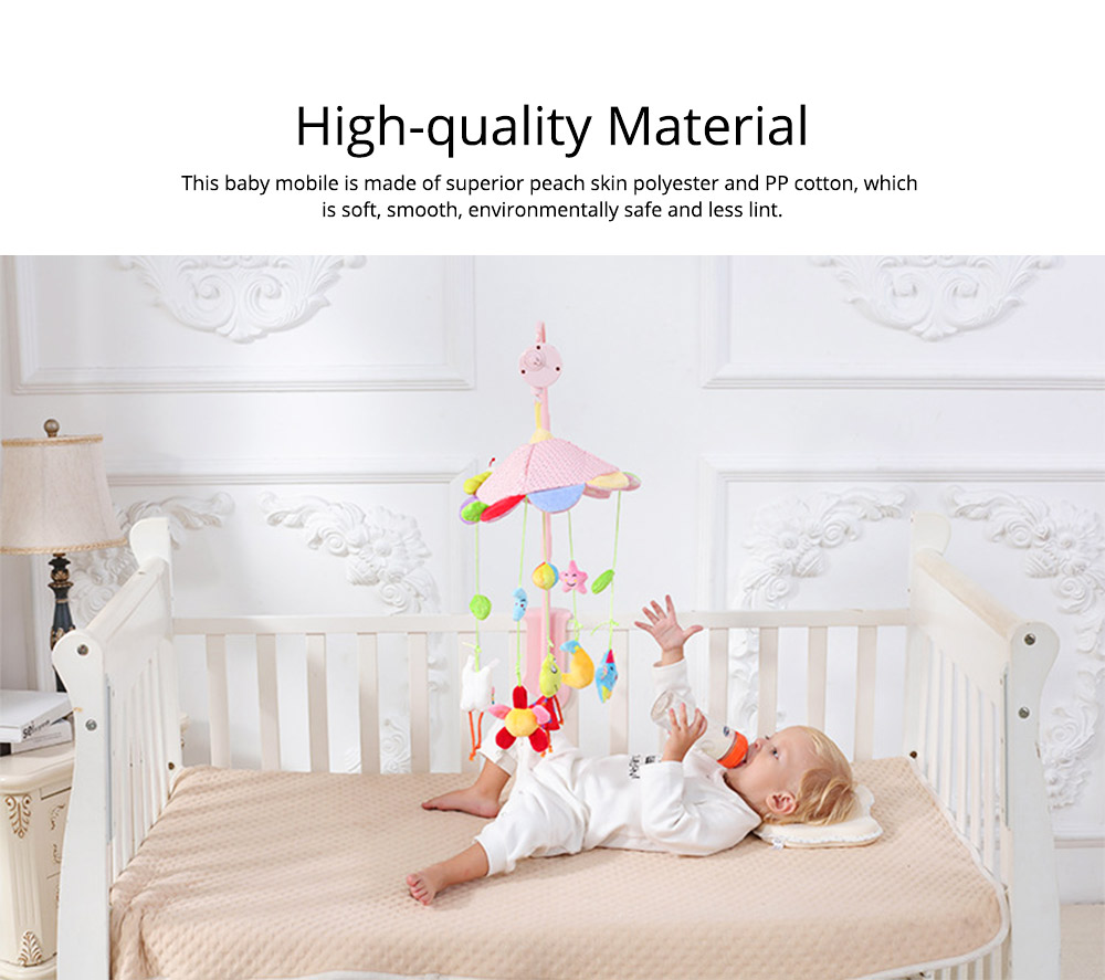 Creative Fluffy Music Rotation Bed Bell Baby Mobile, Cute Carton Ornaments Infants Bed Pram Decorative Toy 1