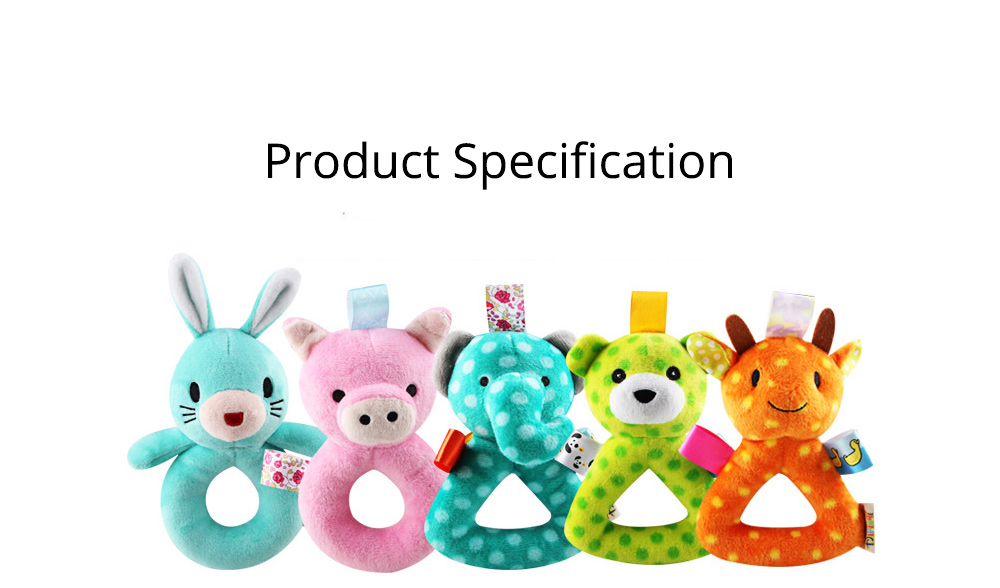 Cute Animal Fluffy Rattle with BB Device, Delicate Triangle Round Hand Grip Hand Bell for Infants 11