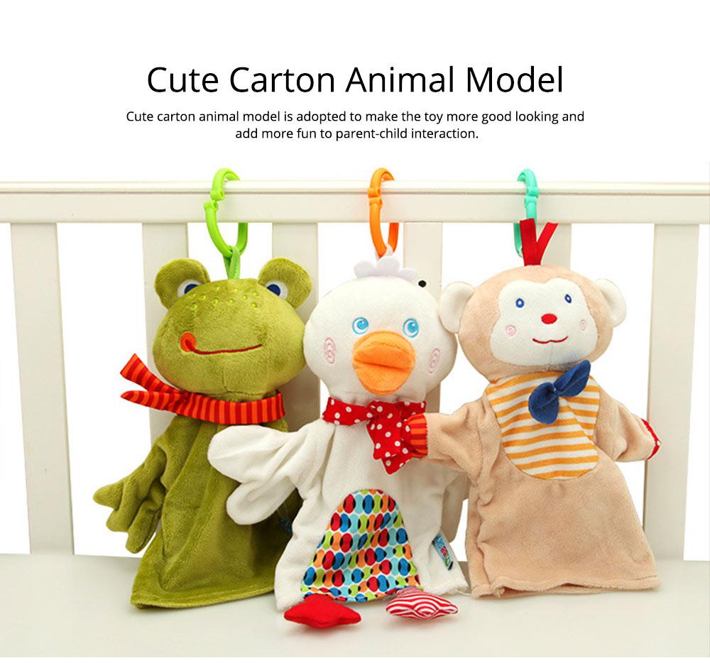 Cute Fluffy Animal Hand Puppet, Delicate Soft Plush Amusing Toy Doll for Children Infants 5
