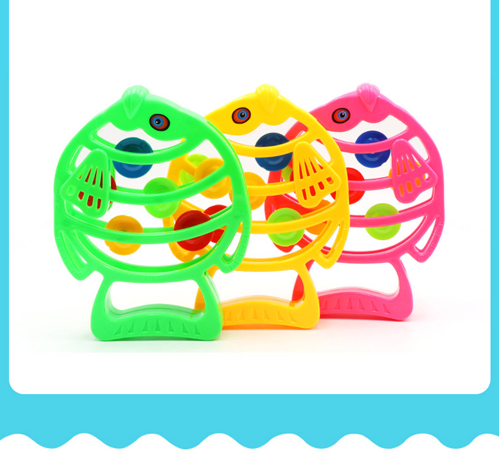 Delicate Fish Rattle for Infants, Colorful Plastic Breaking-proof Secure Babies Hand Bell Pacification Toy 5