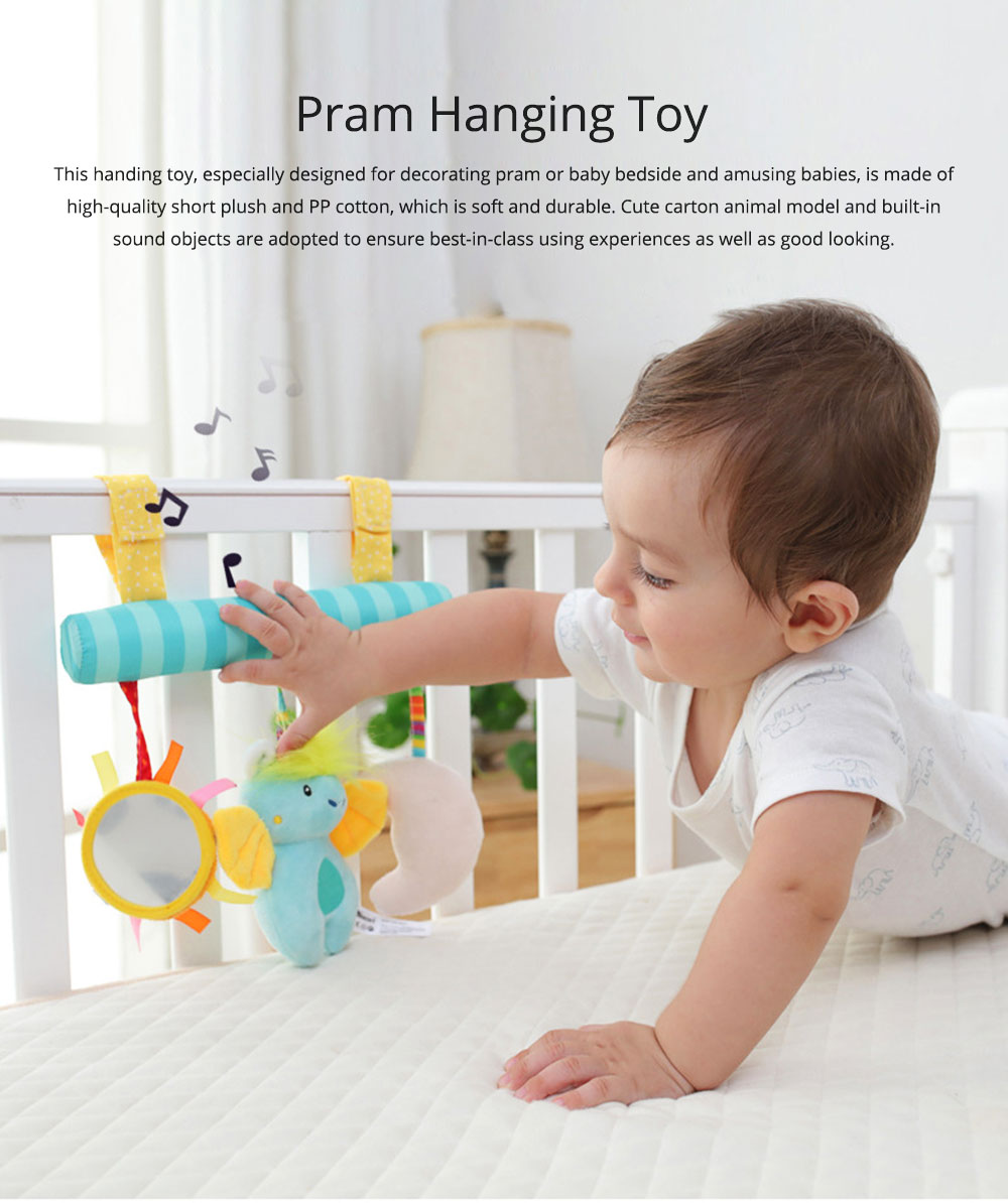Multifunctional Pram Infants Bedside Hanging Toy with Music Function, Delicate Babies Pacification Sleeping Accompany Toy 0