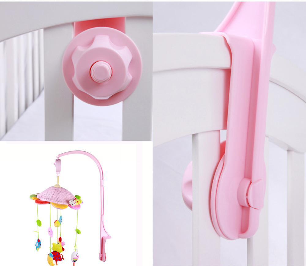 Creative Fluffy Music Rotation Bed Bell Baby Mobile, Cute Carton Ornaments Infants Bed Pram Decorative Toy 5