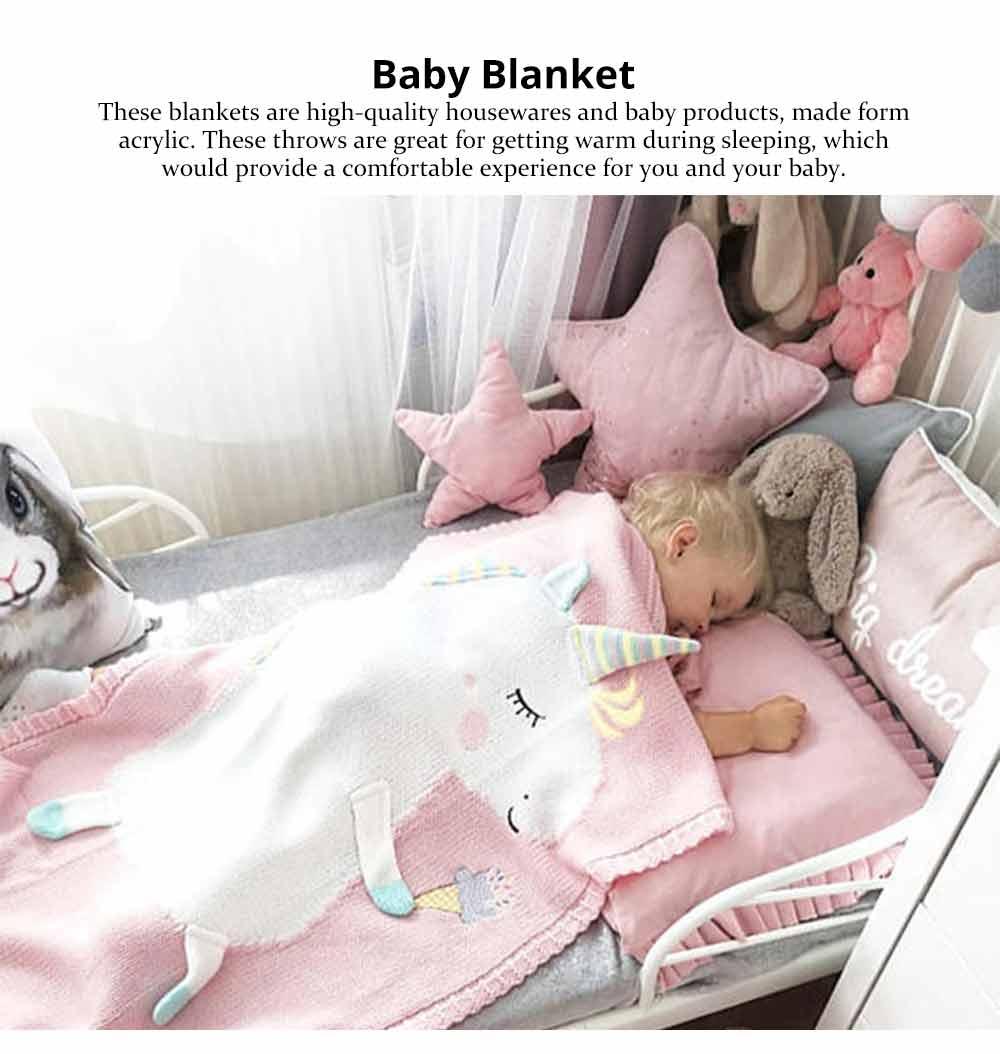 Unicorn Baby Blanket, Soft Warm Baby Throws, Stereoscopic Throws 0