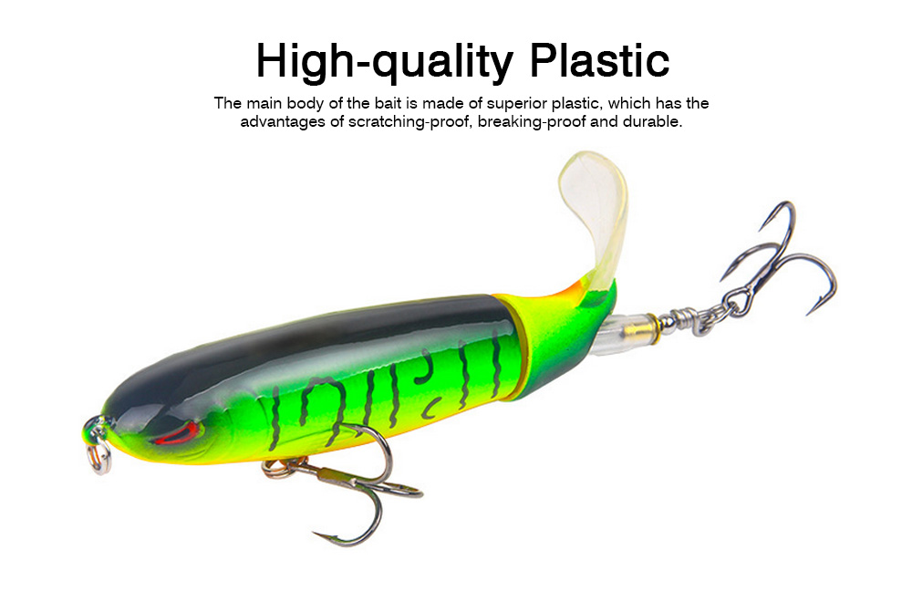 Mock Fish Model Hard Minnow Fishing Lures Bait with Propeller, Delicate Fishing Crank Bait Jigging Bass 1